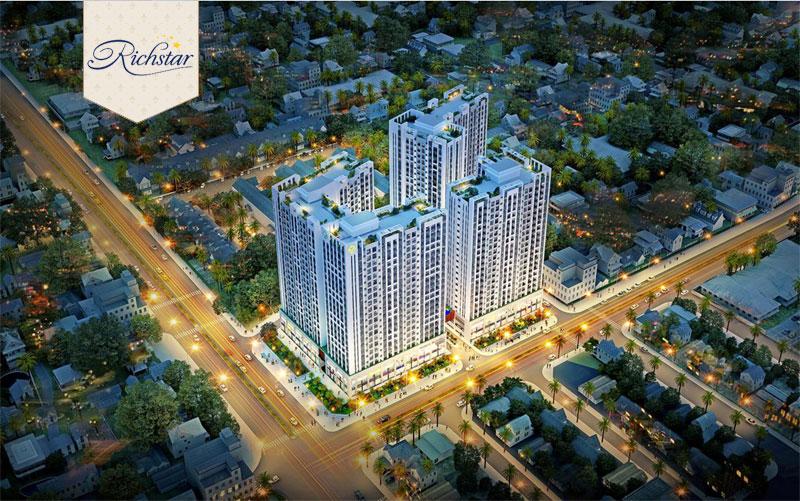 Khu đô thị  Richstar Z2 Novaland –TP.HCM 800 căn Đầu tư, thi công lắp đặt và vận hành